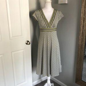 Maggy London Patterned V-Neck Dress